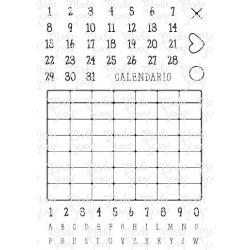 Timbro Clear ModaScrap - CALENDAR- A5