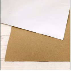 """Carta ModaScrap - 12""""x 12"""" SPECIAL PAPER - KRAFT / ARGENTO OPACO"""