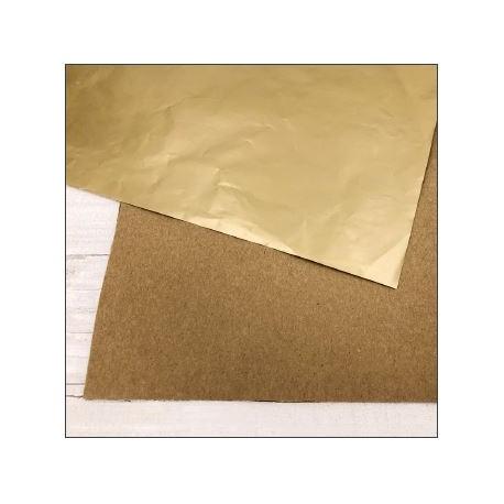 "Carta ModaScrap - 12""x 12"" SPECIAL PAPER - KRAFT / ORO OPACO"
