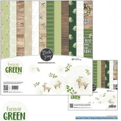 "Kit carte ModaScrap -12""x 12"" FOREVER GREEN"