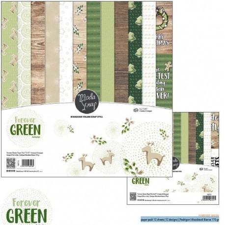 "Kit carte ModaScrap -12""x 12"" FOREVER GREEN"