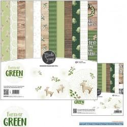 """Pad Carte 6"""" x 6""""  ModaScrap - FOREVER GREEN"""