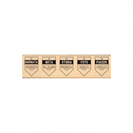 Timbro legno Florileges - Cinque banner