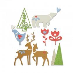 Fustella Sizzix Thinlits - Christmas Elements