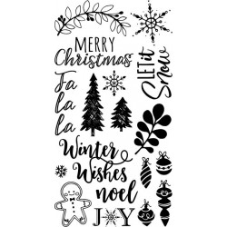 Timbro Clear Sizzix - Winter Phrases