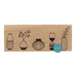 Timbro legno Florileges - 4 VASES