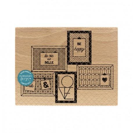 Timbro legno Florileges - 5 CADRES