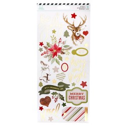 Heidi Swapp - Winter Wonderland - Cardstock Stickers with Gold Foil Accents