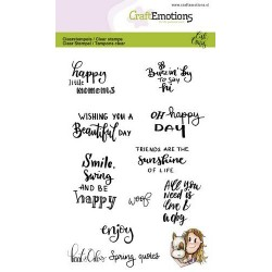 Timbro Clear CraftEmotions - Spring quotes