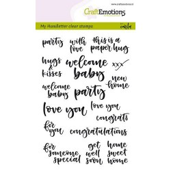 Timbro Clear CraftEmotions - handletter - card moments