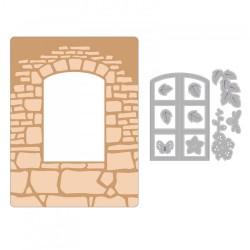 Embosing folder Sizzix Impresslits - Window Box