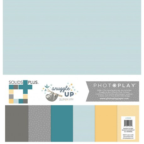 """Kit Carte - Paper Pack 12""""x12"""" - Photo Play Paper - Snuggle Up Collection - Boy"""