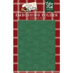 Echo Park - Embossing Folder - Merry Christmas