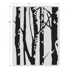 Embosing folder Sizzix Fades Embossing Folder - Birch Trees