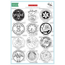 Timbri clear - The Stamping Village - HOLIDAY SEALS