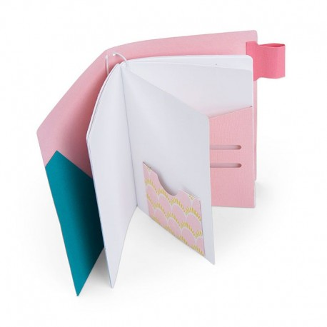 Fustella Sizzix Bigz XL - Traveler's Pink Notebook Cover