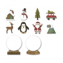 Fustella Sizzix Thinlits - Die Set 11PK - Tiny Snowglobes