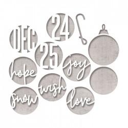 Fustella Sizzix Thinlits - Die Set 12PK – Circle Words, Christmas