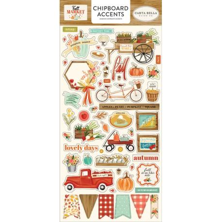 CHIPBOARD STICKERS - Collezione Fall Market - CARTA BELLA