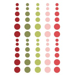 Simple Stories - Enamel Dots collezione Holly Jolly