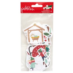 Pebbles - Die-Cuts collezione Merry little Christmas