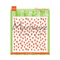 Marianne Design Embossing Folder - Trendy hearts