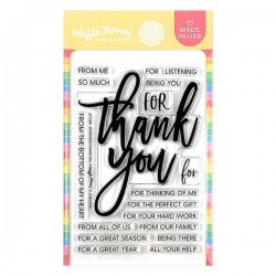 Waffle Flower - Timbro Clear Oversized Thank You