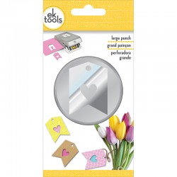 Ek Tools - Punch Large Double Heart Tag