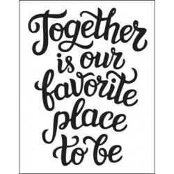 Darice - Embossing Folder - Together