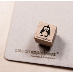 Cats on appletrees - Timbro Legno Mini - Pinguin Ole springend - 2861