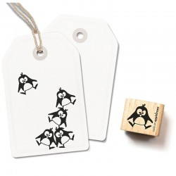 Cats on appletrees - Timbro Legno - Penguin Ole Jumping - 2237
