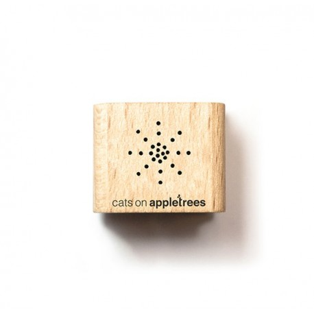 Cats on appletrees - Mini Timbro Legno - Stern - 2865