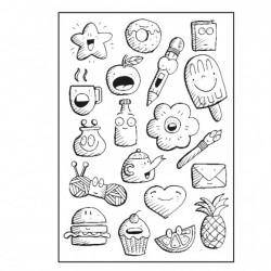 Vaessen Creative - Timbro Clear - Doodles A6