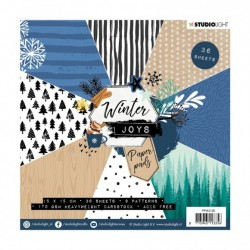 Studio Light - Paper Pad Winter Joy 128  - 15x15