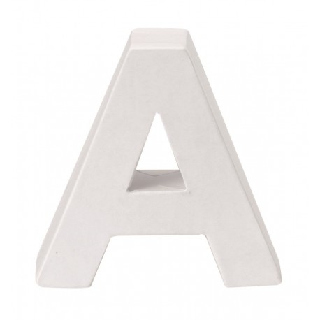 Glorex - Lettera in Cartone Bianco - A