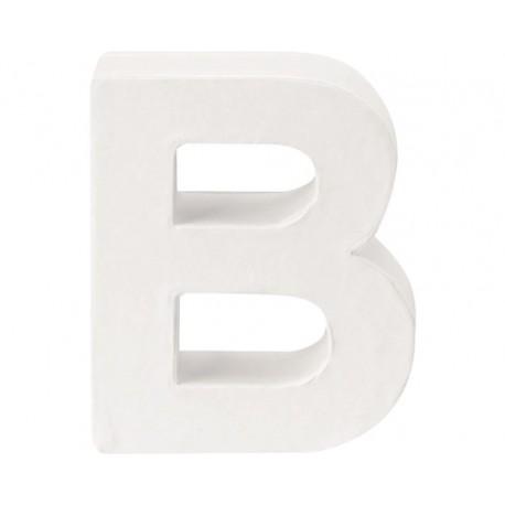 Glorex - Lettera in Cartone Bianco - B