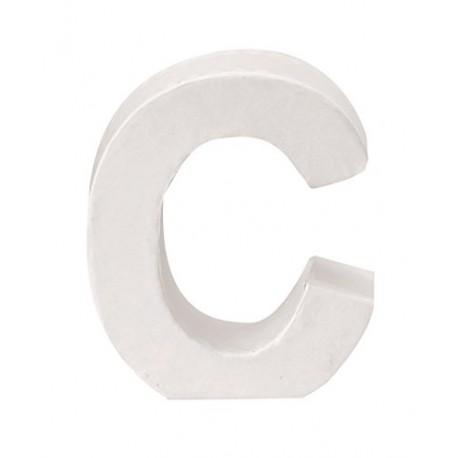 Glorex - Lettera in Cartone Bianco - C