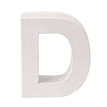 Glorex - Lettera in Cartone Bianco - D