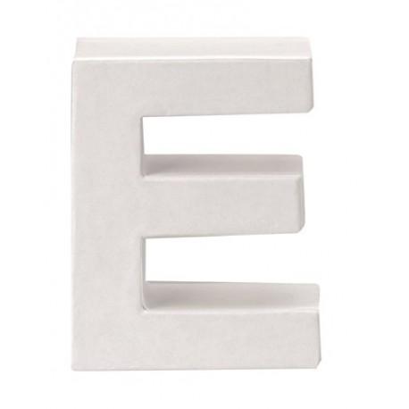 Glorex - Lettera in Cartone Bianco - E