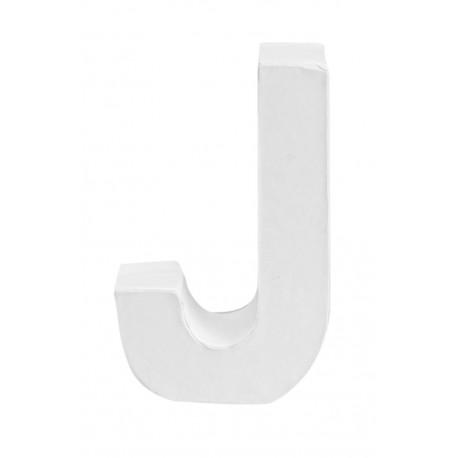 Glorex - Lettera in Cartone Bianco - J