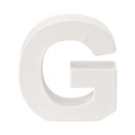 Glorex - Lettera in Cartone Bianco - G