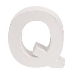 Glorex - Lettera in Cartone Bianco - Q