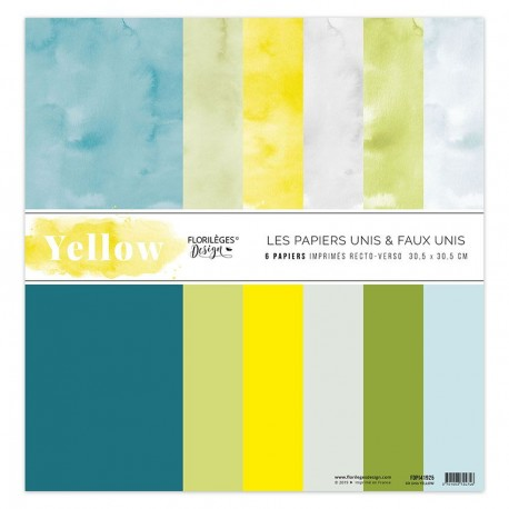 Florileges Design - Kit Carte - Yellow