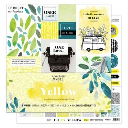 Florileges Design - Kit Carte Stampate - Yellow