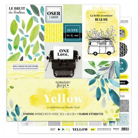 Florileges Design - Kit Carte Stampate - Yellow