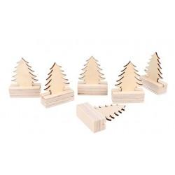 Artemio - Abbellimenti in legno - Albero di Natale su supporto