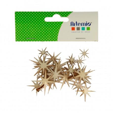 Artemio - Abbellimenti in legno - Stelle