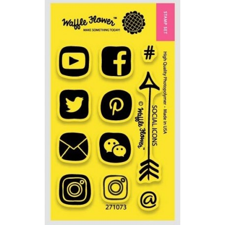 Waffle Flower - Timbro Clear - Social Icons