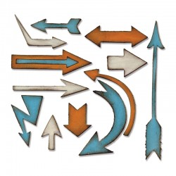 Fustella Sizzix Bigz T.Holtz - Artful Arrows