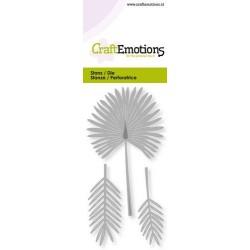 CraftEmotions - Fustella - Fan Palm Card